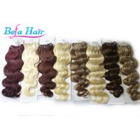 China 100% Unprocessed 24 inch / 26 inch Micro Loop Ring Hair Extensions wefts wholesale