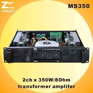 China MS350 2CH X 600W/8ohm Professional Amplifier wholesale