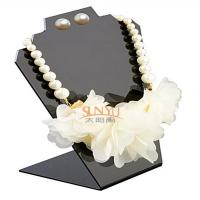 China Black Jewellery Necklace Display Stands Two Holes For 2 Necklace And 1 Set Earrings wholesale