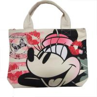 China White Womens Nylon Tote Bags Silk Screen Print With Zipper Closure wholesale