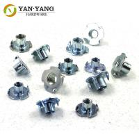 China Furniture Accessory Zinc Plated Fastening T-Nuts Metal Sofa Screws wholesale