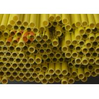 Buy cheap Yellow Pultruded Fiberglass Tube / Hollow Fiberglass Tube High Flexural Strength from wholesalers