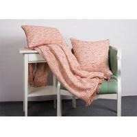 China 100% Polyester Woven Orange Cushion Covers , Elegant Indoor / Outdoor Throw Pillows wholesale