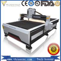 China Low cost cnc plasma cutting machine for sale with Hypertherm plasma power supplier TP1530-125A, THREECNC on sale