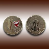 China Custom high quality metal golden commemorative coin--Shenzhen factory wholesale