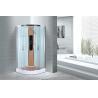 China Comfort Waterproof Curved Corner Shower Enclosure Kits Free Standing Type wholesale