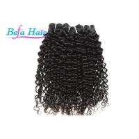 China Black Women Natural Black Cambodian Hair Bundles , Spiral Curl 12-14 Inch Hair Extensions wholesale