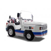 China TD30 White Color Steel Electric Aircraft Tow Tractor , Electric Platform Truck Electric Tow Tugs on sale