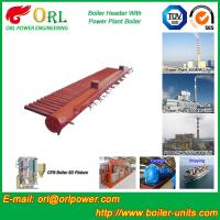 China Condensing Gas Boiler Low Loss Headers , Power Station Heating Header Tank wholesale
