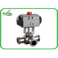 China Food Grade 3 Way Sanitary Ball Valves  Male / Female Thread , Floating Ball Core Structure wholesale