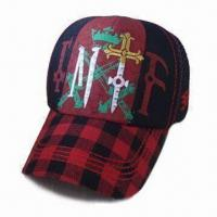 China Stuctured 5 Panels Baseball Cap, Made of 50% Linen and 50% Polyester, High Profile on sale