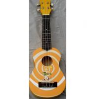 Quality Red / Yellow Rosewood Bridge 21 inch Hawaii Guitar Ukulele Lollipop Shape for sale