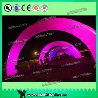 China White Inflatable Arch With LED Light , Event Inflatable Archway wholesale