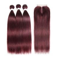 China 99J Color 100% Real Human Hair Omber Hair Extensions For Ladys CE BV SGS wholesale
