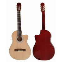 China Cutaway 39 inch 6 String Wood Classical Guitar Solid Spruce Top Guitar CG3920C wholesale