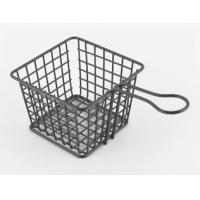 China Modern Home Kitchen Accessories , Serving Fry Basket With Handle wholesale