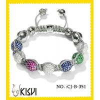 China 2012 hot selling colorful 10mm handmade beaded bracelets with shiney beads wholesale