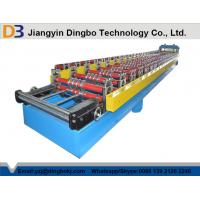 China Corrugated Roofing Sheet Roll Forming Machine With Hydraulic Cutting Touch Screen wholesale