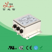 China 380V 30A 40A 50A Electrical 3 Phase with neutral line EMI EMC Filter with high attenuation RFI wholesale