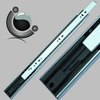 China 45mm width 3-fold full extension push to open ball bearing drawer slide on sale