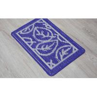 China 100% Polyester Fleece Outdoor Door Mats Oblong Shape For Household Entrance wholesale