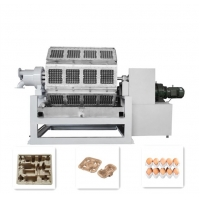 China 40KW Fully Automatic Pulp Tray Machine Paper Pulp Seedling Cup Flower Pot for sale