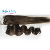 China Braided Virgin Malaysian Straight Hair Extensions With Micro Rings 1# 1B# 2# wholesale