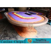 China Durable Casino Poker Table , Wood Poker Table With Customized Grain Style wholesale