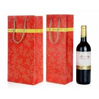 Wine Bottle Gift Bags , Retail Shopping Bags For Grape Wine Packaging