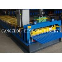 Quality Galvanized Corrugated Roofing Sheet Roll Forming Machine 6kw Power 1200mm for sale