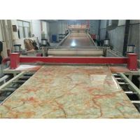 China Faux Marble PVC Rigid Sheet Extrusion Line , Plastic Sheet Making Machine on sale