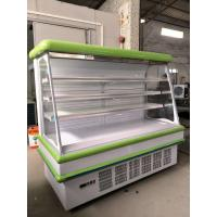 Quality Coated Steel Body Open Deck Chillers 8ft Long Vegetable / Meat Refrigerated Showcase for sale