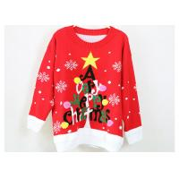 China Women Acrylic Jacquard Christmas Sweater Red And Black Computer Knitted wholesale