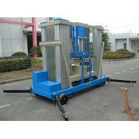 China Aluminum Alloy Push Around Vertical Mast Lift 22 M Motor Driven For Window Cleaning wholesale