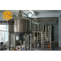 Quality PLC Control Beer Production Line Auto 1500KL Steam Heating Stainless Steel Material for sale