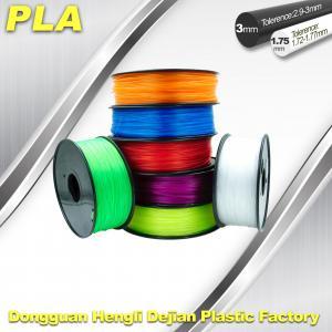 China Desktop 1.75mm / 3.00 mm PLA 3D Printer Filament Big Size Colorful wholesale