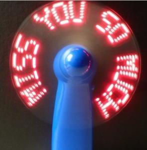 usb novelty--- Mini LED customized message usb programmable fan mini battery operated fan