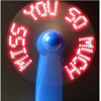 Quality usb novelty--- Mini LED customized message usb programmable fan mini battery operated fan for sale