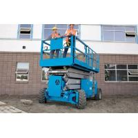 China Rough Terrain Scissor Lifts With Fully Electric Motor Drive And Hydraulic Motor Drive wholesale