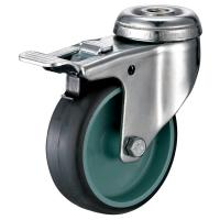China Locking Swivel Furniture Caster Wheels With Bolt HoleFitting ISO9001 Certificate wholesale
