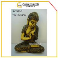 Buy cheap Resin Sitting Sleeping Buddha for Home Decoration from wholesalers