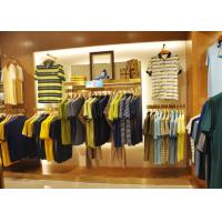 China Adult Men Apparel Store Display Cases Wood Plus Grained Veneer Material wholesale