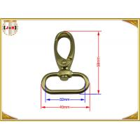 China Quick Release Brass Plating Swivel Snap Hooks With Oval Ring Environmental Protection wholesale