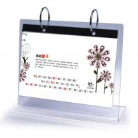 China Office Clear Acrylic Calendar Holder on Table Top Custom 148mm x 210mm wholesale
