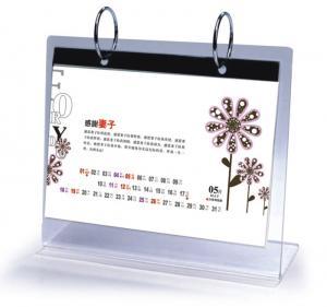 Quality Office Clear Acrylic Calendar Holder on Table Top Custom 148mm x 210mm for sale