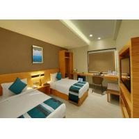 China custom Modern Design Plywood Cover with Wood Veneer Hotel Bedroom Furniture Set wholesale