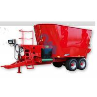 China 4pcs Tyres Beef Feed Mixer Wagon With Belt Conveyor And Serrated Cutting Knives wholesale