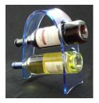 China Transparent Acrylic Wine Bottle Display Rack , Plexiglass Bottle Holder wholesale