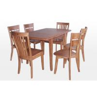 China Custom Rectangle Restaurant Rubberwood Dining Table With Six Chair wholesale