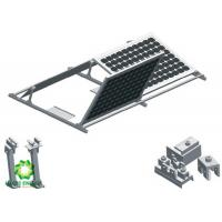 China 2020 Custom Silver Aluminum Brackets Solar Structure Ballasted Solar Mounting   Solar PV Ground Mount Systems wholesale